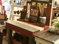 Patriotic Potting Bench $375.   ******** PLEASE KEEP IN