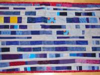 Patriotic quilt. red/white/blue with creams and other