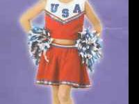 Red USA Cheerleader costume - 2 available Large 10-12