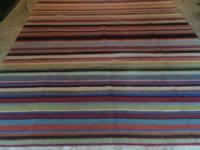 Multi-color stripe Paul Smith: -Dimensions are 10'x7'