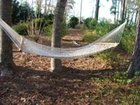 HAMMOCK USED ONE TIME, NEVER LEFT OUT IN WEATHER, CALL