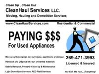 CleanHaul Services is paying top dollar for used
