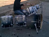 7Pc Drum Set With No scratches. Has As Few More Stands