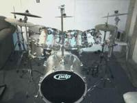 7pc X7 drumset 1yr old hardly played excellent sounding