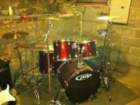 PDP Drum Kit. Lots of extras. New heads, Sabian