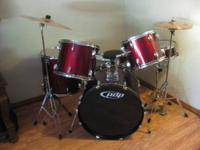 I have a maroon PDP drumset for sale. Its in excellent