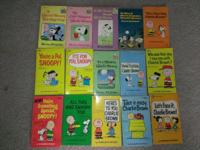 15 Vintage Peanuts paperback books. Used condition.