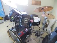 2004 5pc Pearl EX Export Series Drum Kit (black)