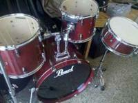 lots and lots of used drum sets by pearl and vintage.