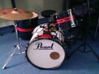 4 Piece Pearl Forum Series Drum Set  *PDP Snare* Pearl