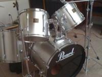 pearl export series drums exclent condition all cymbles