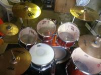 Pearl Vision 6 piece drum set, 100 % Birch shells.