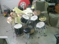 WE HAVE FOR SALE A PEARL EXPORT PRO SERIES DRUM SET  IT
