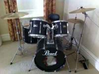 Pearl Export Series Drum Set Good Condition. Listed
