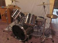 "Very nice set of older Pearl Export drums. 22"" Bass"