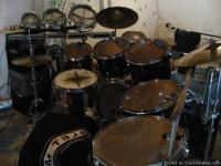 DRUMS: 10 Piece Fusion Kit, Pearl Prestige Session