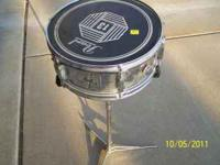 Pearl Snare Drum and Stand. Good Condition. Call . Will