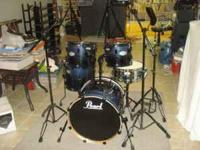 5 Piece Pearl Vision Drumset, 6 Months old!! Really