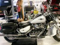Beautiful Pearl White 2007 Suzuki Boulevard 1500 Up For