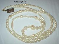 This Pearl Necklace still has the tag attached stating