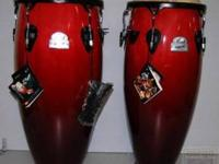 Beautiful Pearl Cherry Red Primera Congas! These are in