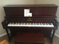 Gorgeous piano for your home or studio. This piano has