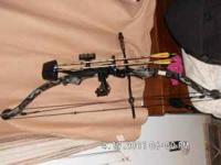 Pearson Compound bow with hard case, arm guard, arrow