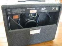 For sale is a Peavey Backstage 110 65 watt guitar amp.