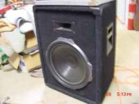 Peavey band speaker with 15 inch black widow speaker.