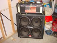 Description Peavey Half stack amp. amp head is 160