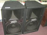 Peavey PV115 Speaker Cabinets. Speakers have a 15