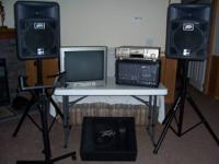 Peavey sound equipment. JVC Triple Tray Video/CD