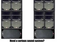 This is a used set of sound system speakers. You get 8