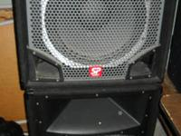"Pair of Peavey Speakers in great condition. 15"","