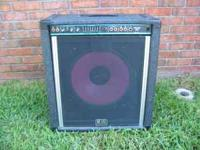 Peavey TKO 115 BW in good condition. Hooked a guitar to