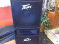 Excellent condition Peavey speakers ! VERY LOW HOURS