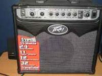 Peavey Vipyr amp. My son thought he wanted to play