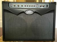 This is a Peavey VYPYR 100 guitar amplifier. It is in