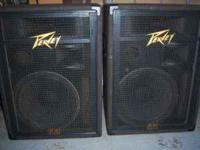 SELLING A SET OF PEAVEY SPEAKERS BLACK WINDOW SPEAKERS