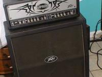 Peavey Supreme xl head amp. & 4 x 12 Cabinet On wheels