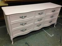 Pedal Pink French Provential Long Low Dresser Baby