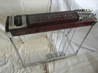 MSA Pedal Steel. 12 strings, 5 pedals, 4 levers. 1970s