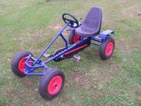 The four wheel Heavy-Duty Adult Pedal Go-Cart features
