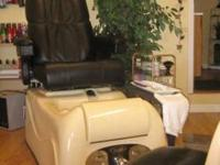 Versas Pedicure chair by Lexor for sale. It has power