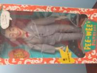 Pee wee Herman talking doll from Matchbox.....box has