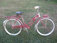 pre-war peerless bike, maroon with some