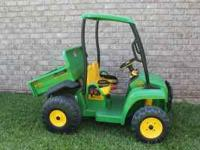 Peg Perego kids ride on toy, John Deere Gator for sale.