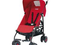 The Peg Perego Pliko Mini Stroller in Fire is the
