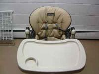 Cushioned tan faux leather seat great condition.