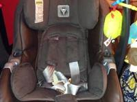 Only problem with the car seat is the warning label on
